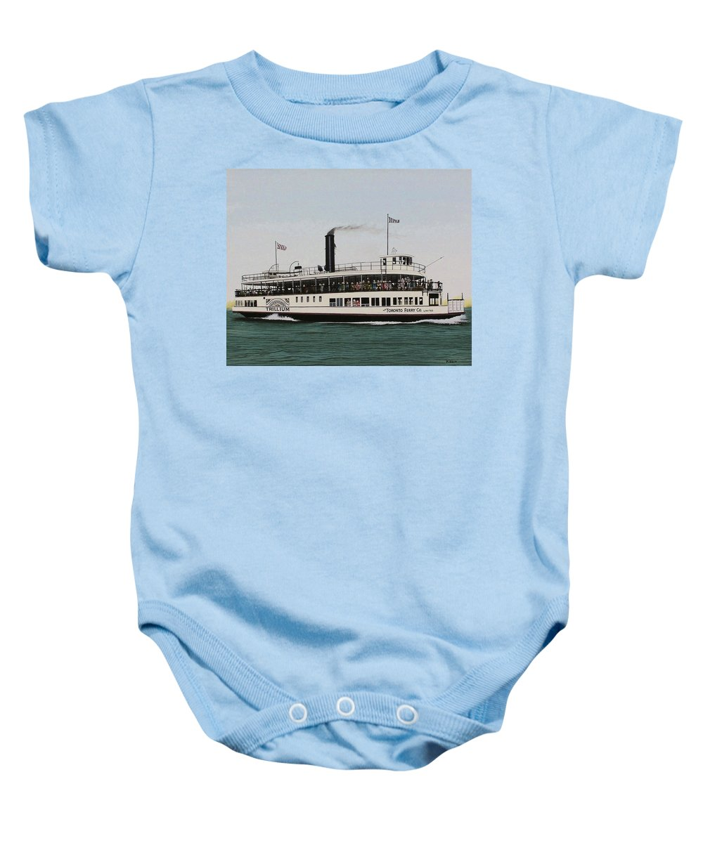 Landscapes Baby Onesie featuring the painting The Toronto Trillium by Kenneth M Kirsch