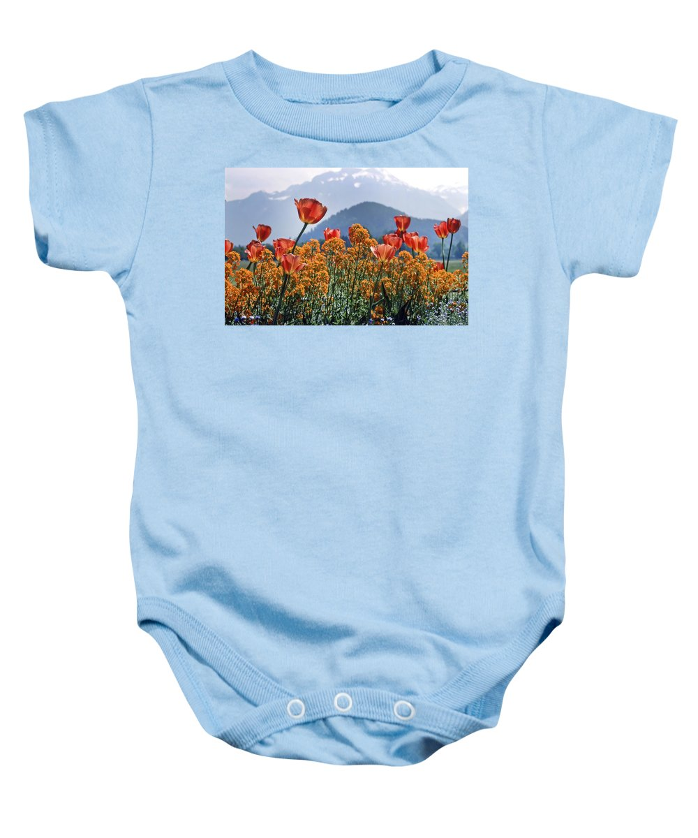 Kg Baby Onesie featuring the photograph The Tulips In Bloom by KG Thienemann