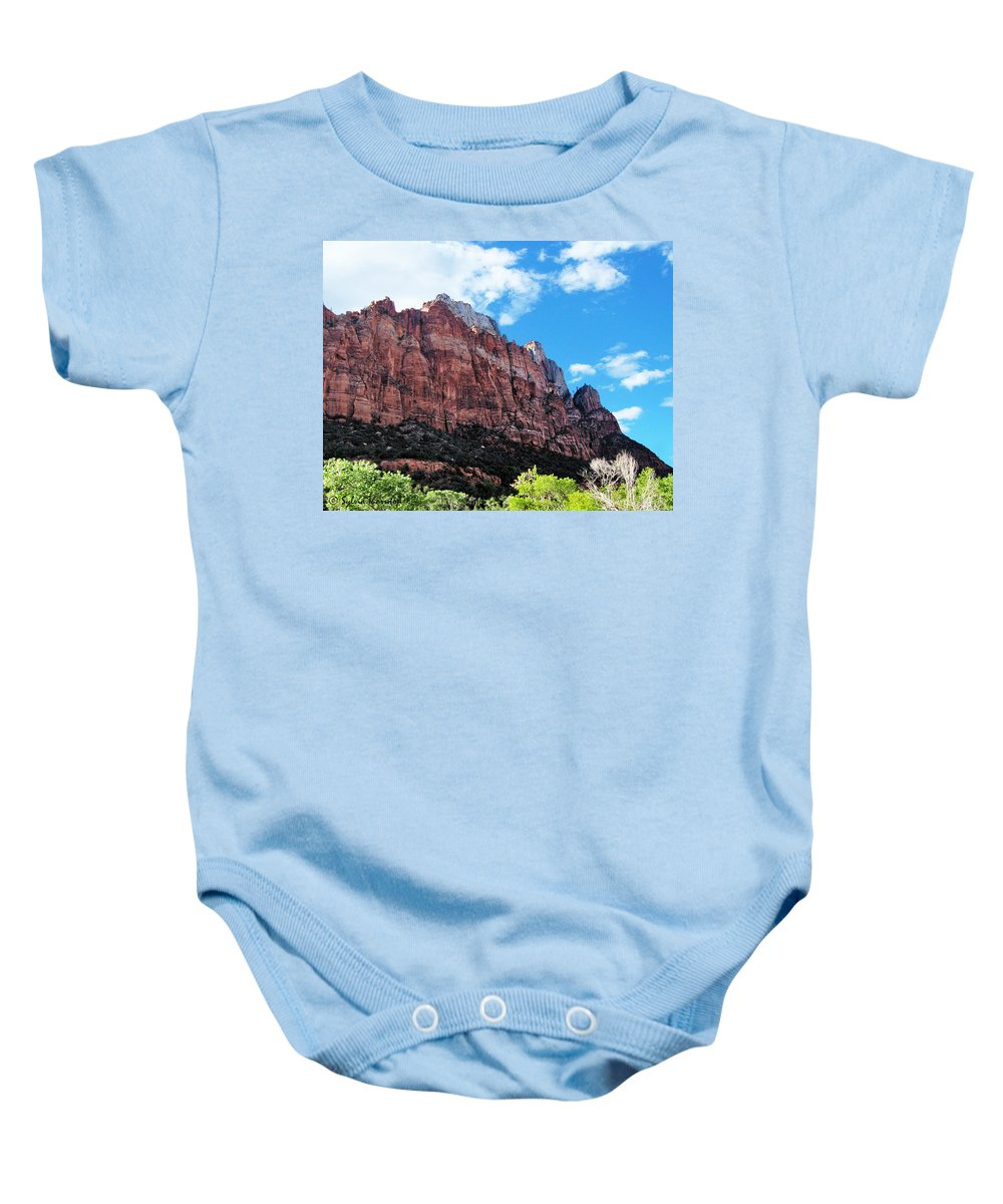 Zion Park Baby Onesie featuring the photograph The Wall by Sylvia Thornton