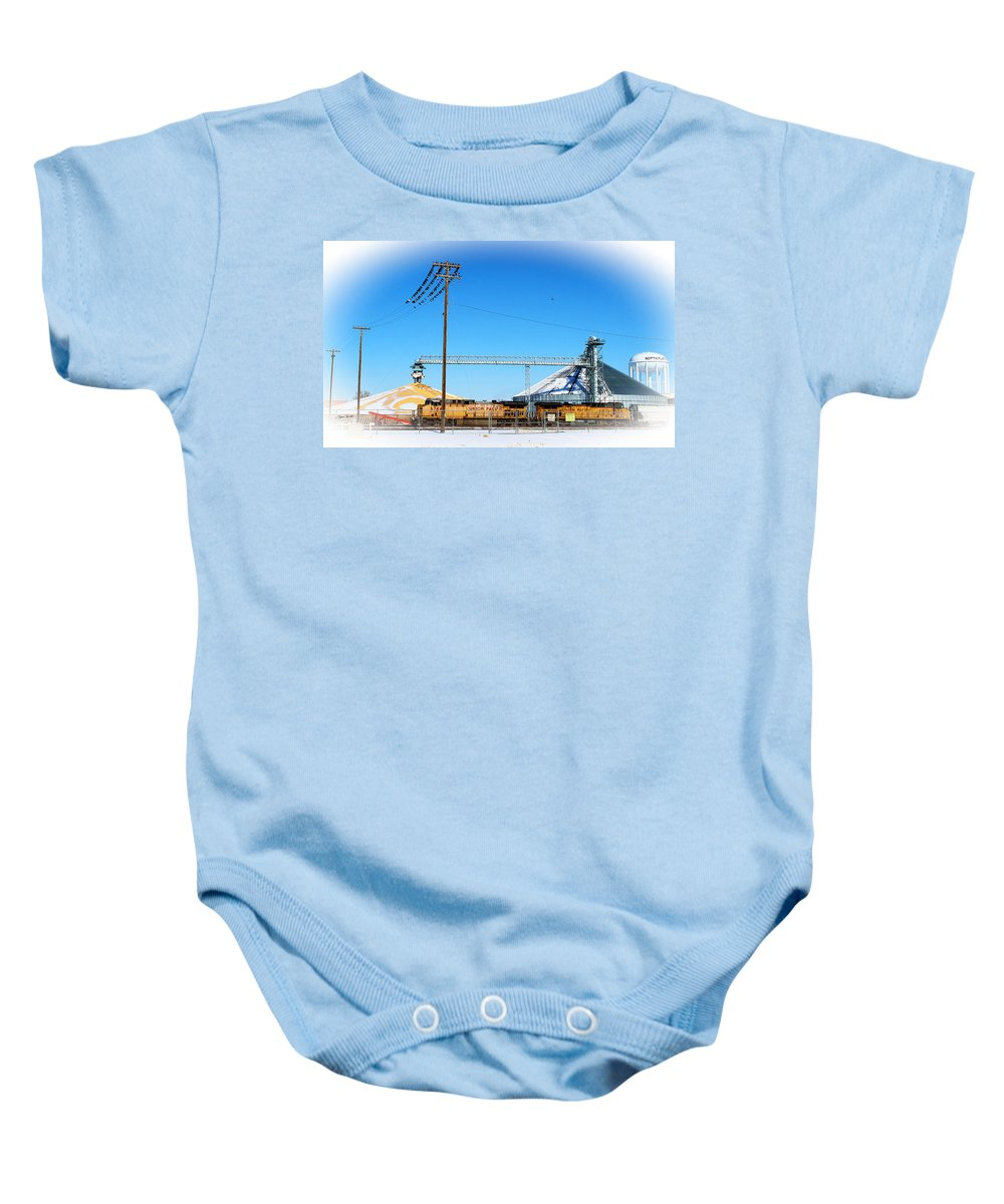 Train Baby Onesie featuring the photograph This Is North Platte by Sylvia Thornton
