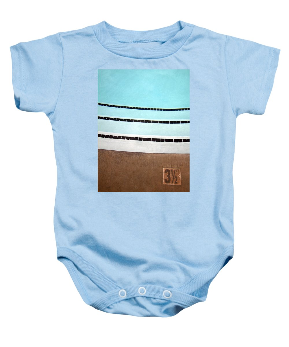 Three And A Half Baby Onesie featuring the photograph Three And A Half Palm Springs by William Dey