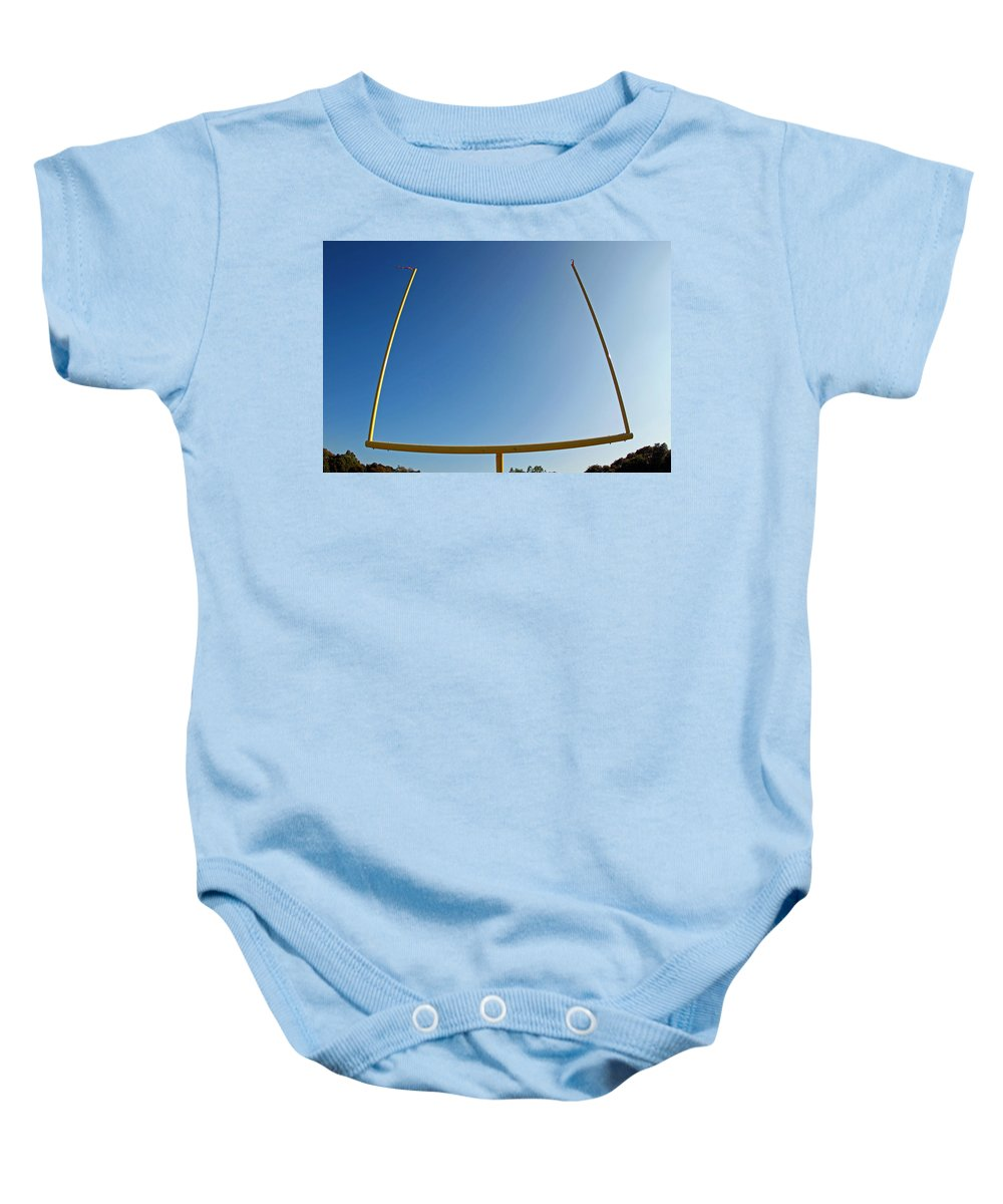 Football Baby Onesie featuring the photograph Through The Uprights by Shoal Hollingsworth