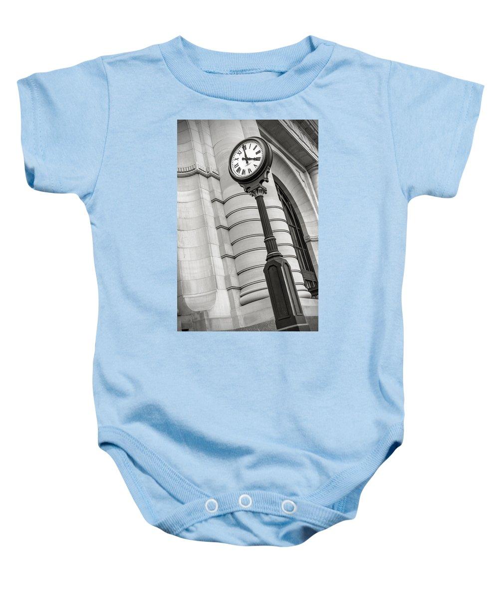 Essense Of Missouri Baby Onesie featuring the photograph Ticking Away by Sennie Pierson