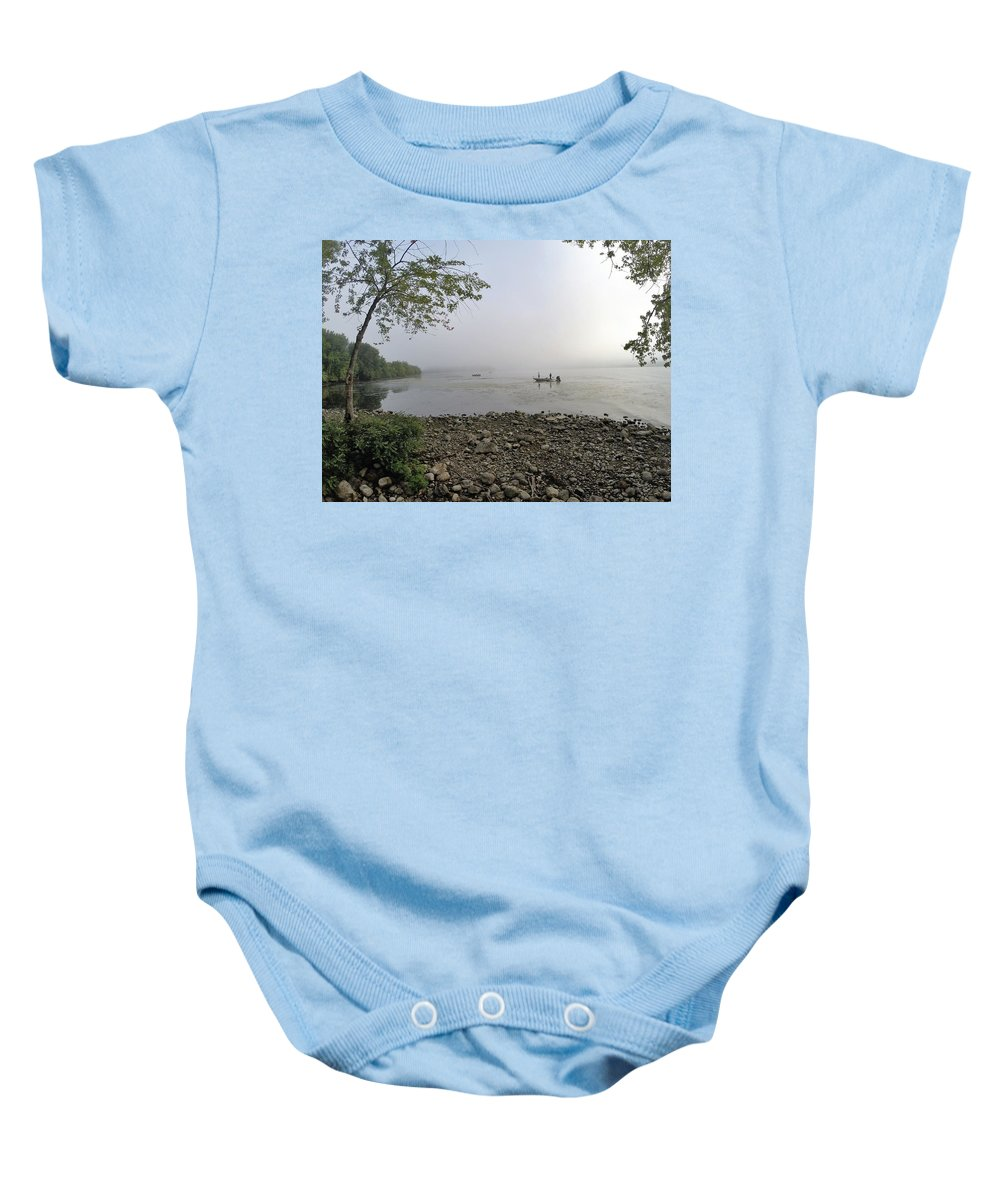 Lake Champlain Baby Onesie featuring the photograph Ticonderoga Bass Fishermen by Erik Kaplan