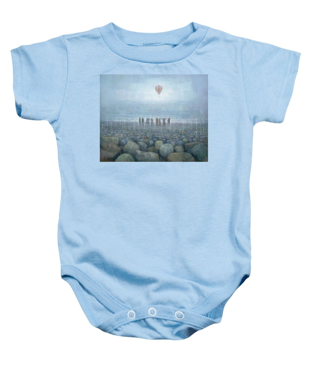 Original Baby Onesie featuring the painting To The Mountains Of The Moon by Steve Mitchell