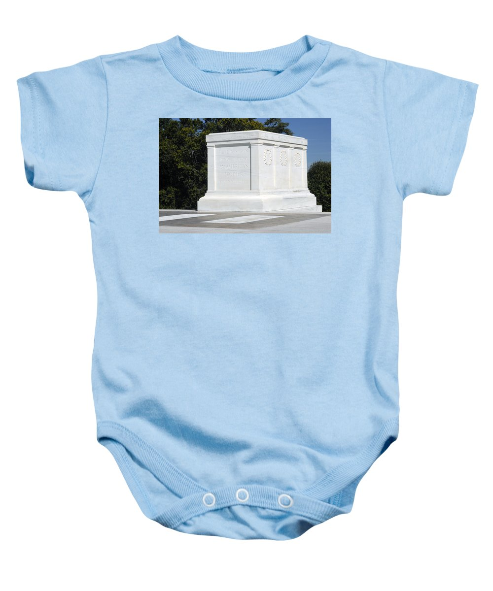 Arlington National Cemetery Baby Onesie featuring the photograph Tomb Of The Unknown Soldier by Paul W Faust - Impressions of Light