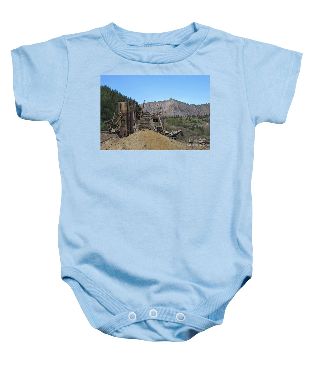 Ghost Towns Baby Onesie featuring the photograph Tomboy History by Tonya Hance
