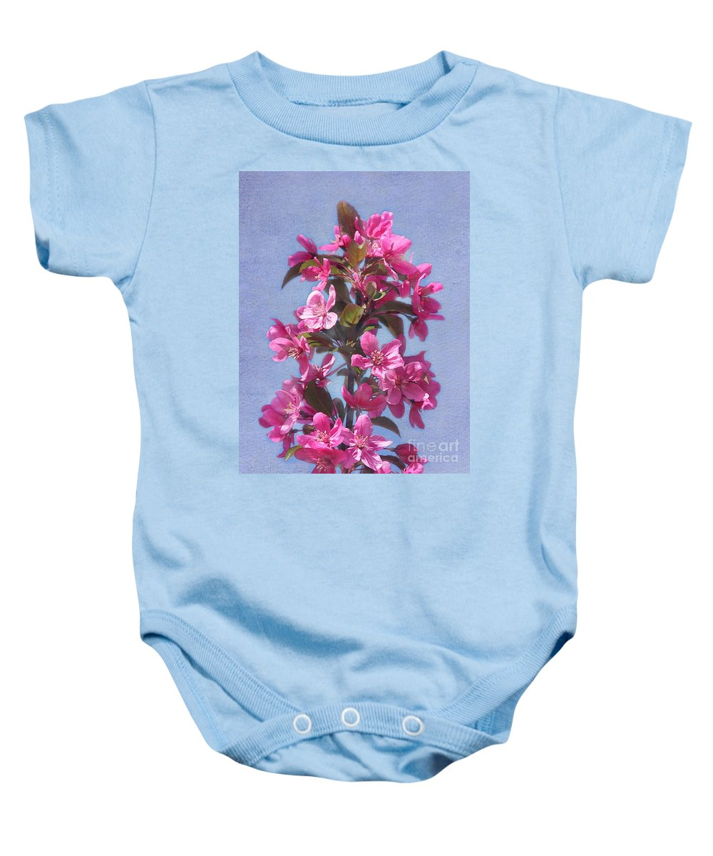 Tree Baby Onesie featuring the photograph Top Of The Apple Tree by Judi Bagwell