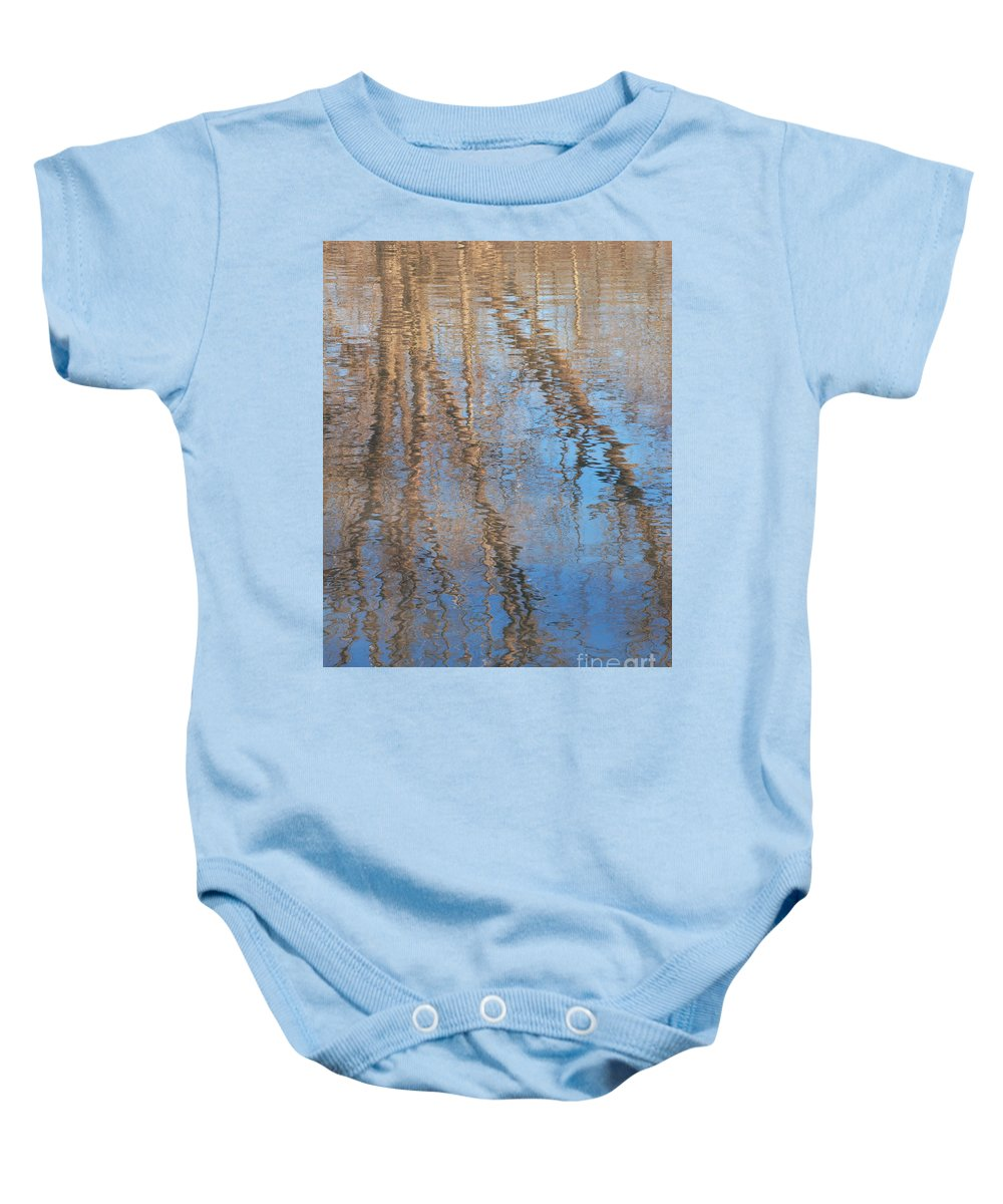 Tree Baby Onesie featuring the photograph Topside Down by Ann Horn