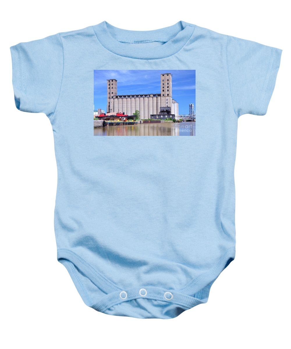 Grain Baby Onesie featuring the photograph Tour Down Buffalo River by Kathleen Struckle