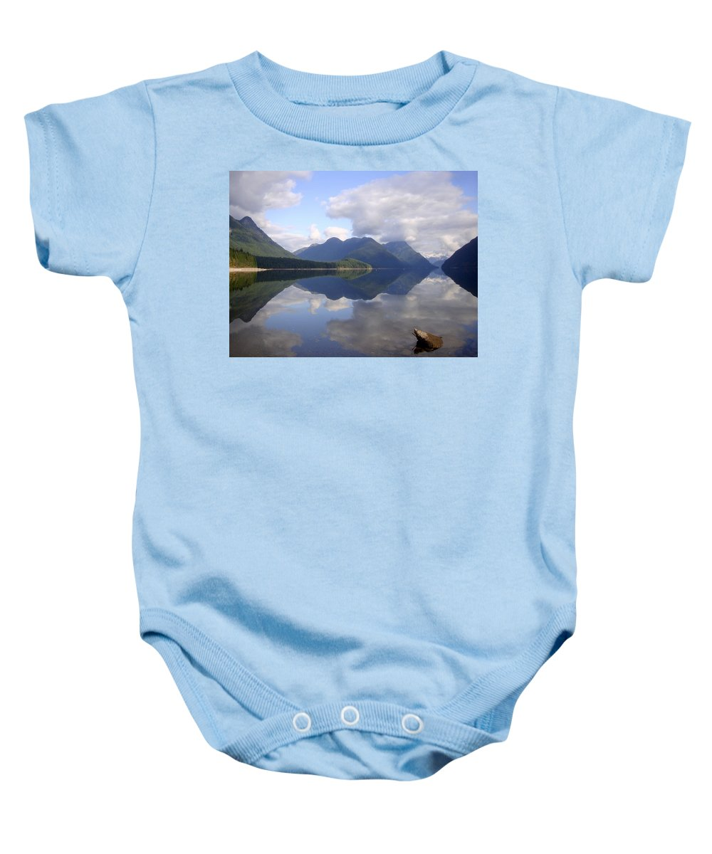 Tranquility Baby Onesie featuring the photograph Tranquility Alouette Lake - Golden Ears Prov. Park, British Columbia by Ian Mcadie