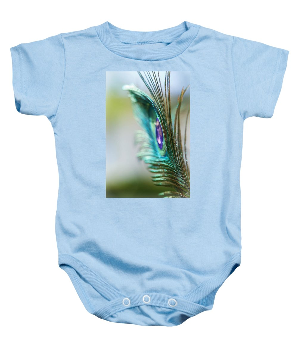 Lisa Knechtel Baby Onesie featuring the photograph Turquoise In The Light by Lisa Knechtel