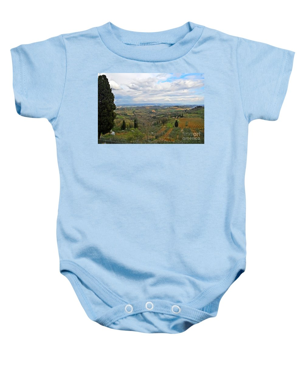 Travel Baby Onesie featuring the photograph Tuscany Life by Elvis Vaughn