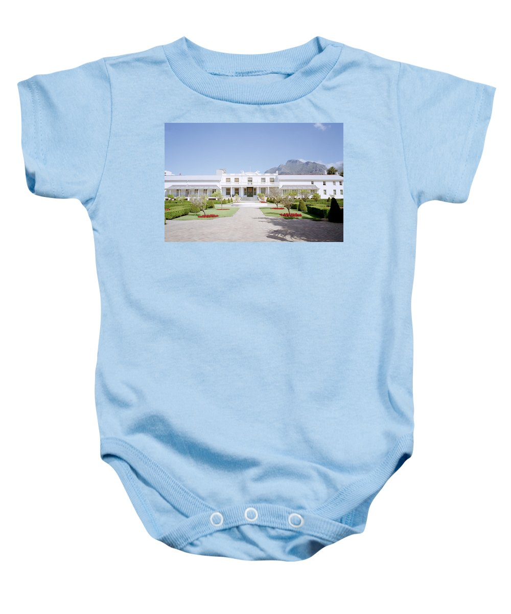 Cape Town Baby Onesie featuring the photograph Tuynhuys by Shaun Higson