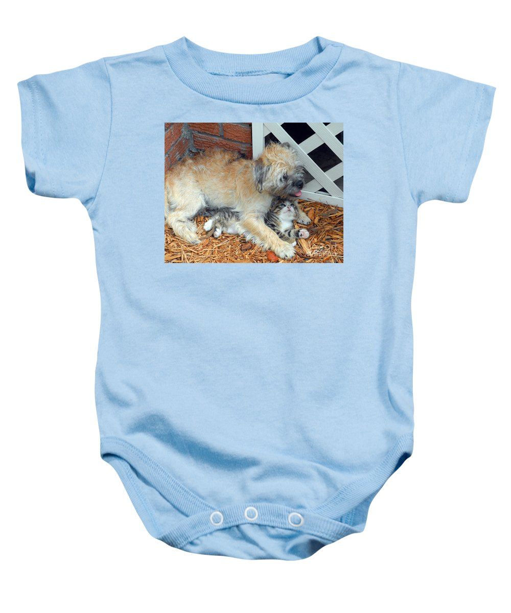 Puppy Baby Onesie featuring the photograph Two Buddies II by Jeff McJunkin