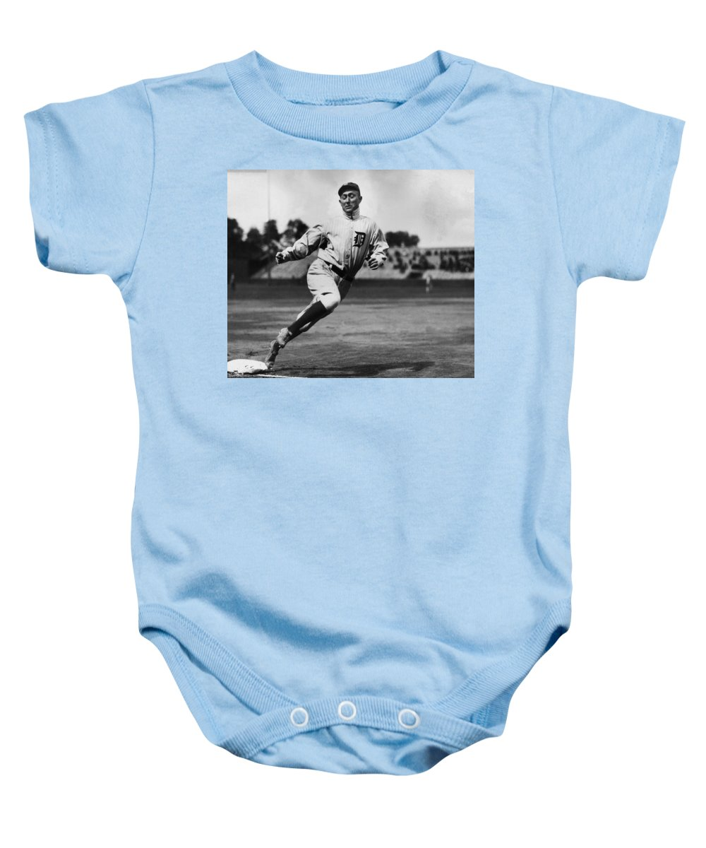 Ty Baby Onesie featuring the photograph Ty Cobb by Gianfranco Weiss