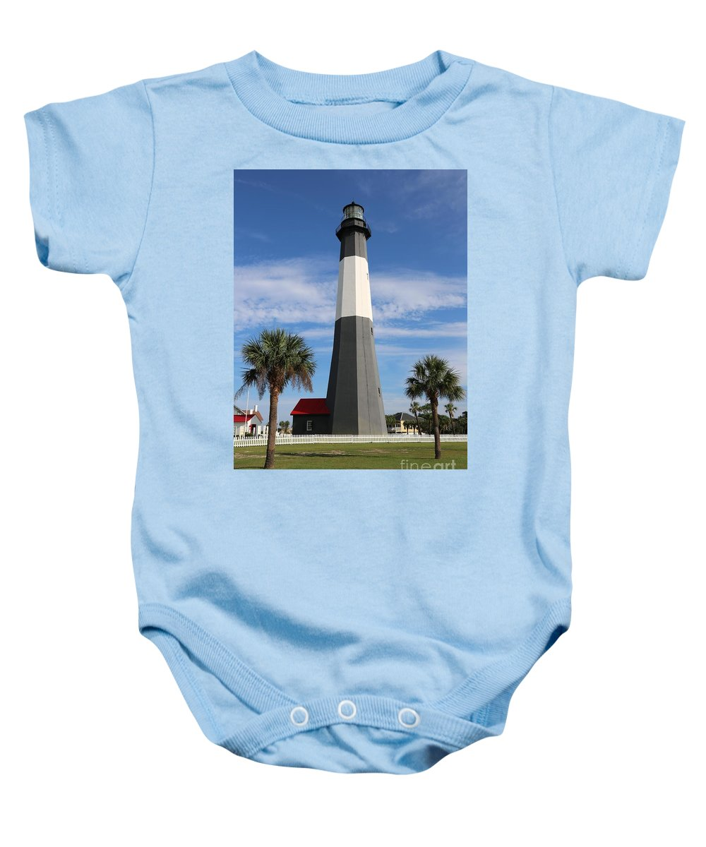 Georgia Baby Onesie featuring the photograph Tybee Island Lighthouse by Carol Groenen