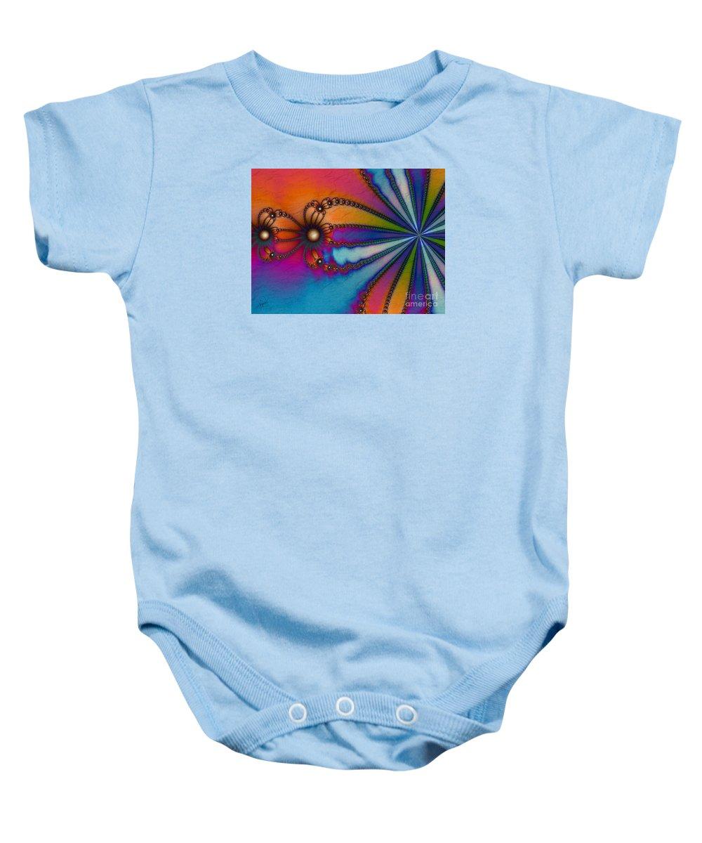 Tye Dye Baby Onesie featuring the digital art Tye Dye by Kimberly Hansen