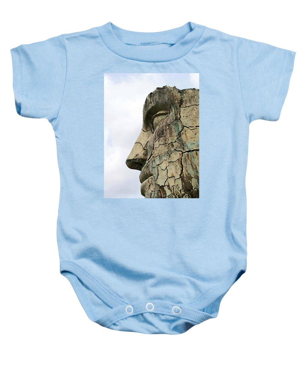 Tyndareus Cracked Baby Onesie featuring the photograph Tyndareus Cracked 1 by Ellen Henneke