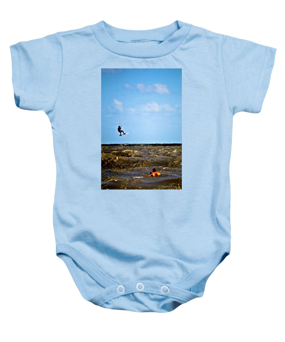 Up Baby Onesie featuring the photograph Up Up And Away by Tara Potts