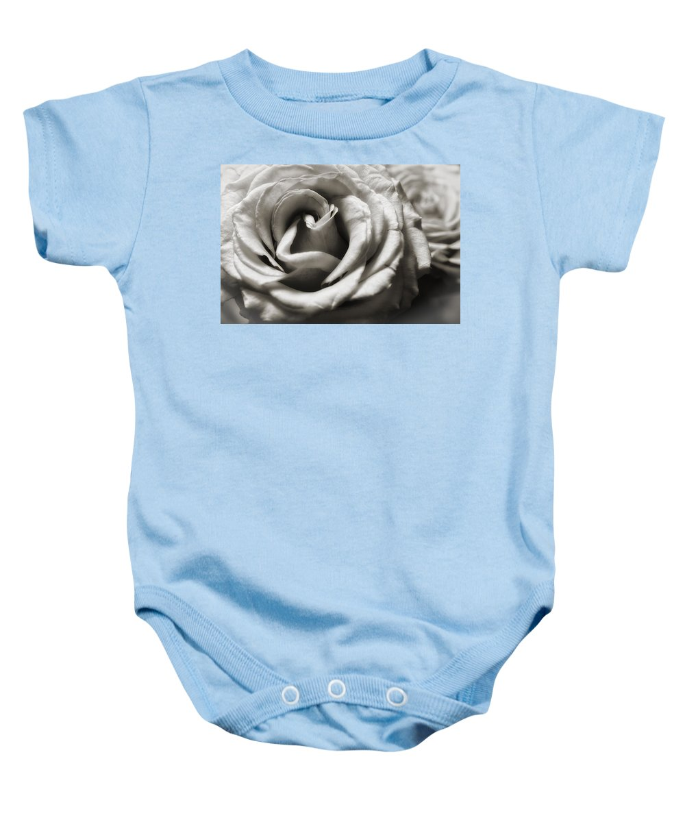 Rose Baby Onesie featuring the photograph Valentine Rose by Frank Morales Jr