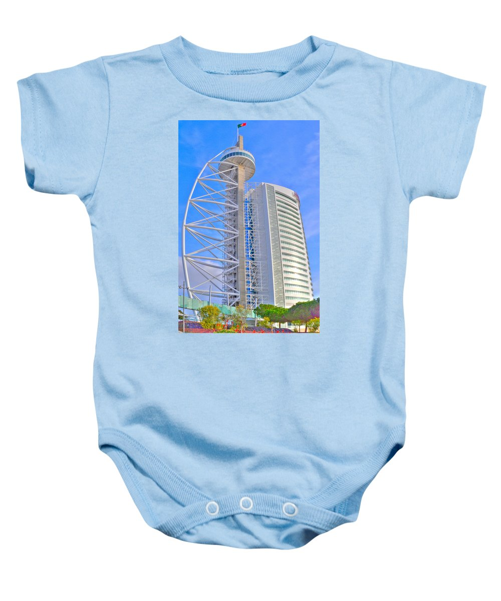 Torre Baby Onesie featuring the photograph Vasco Da Gama Tower I by Alexandre Martins