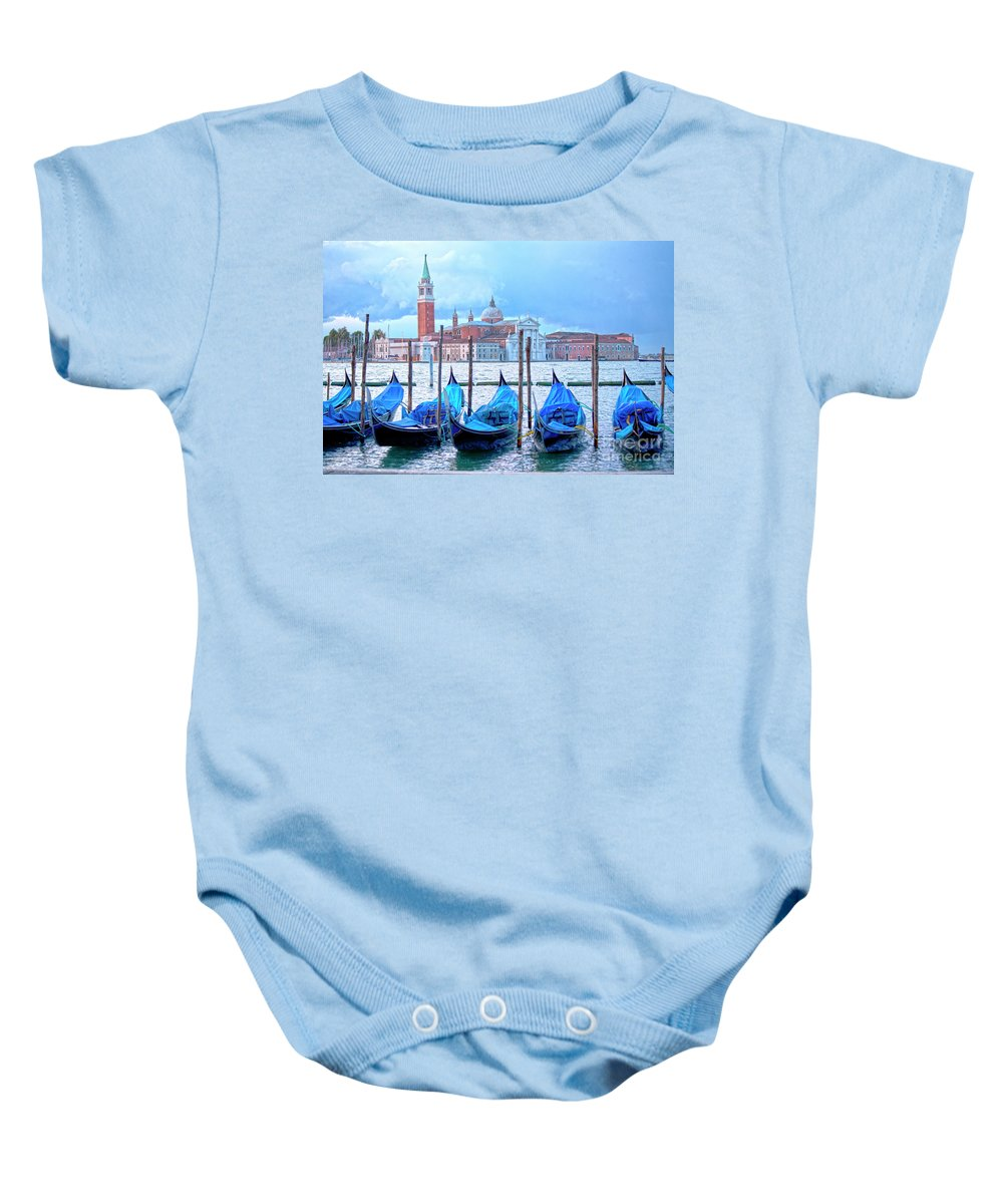 Venice Baby Onesie featuring the photograph View To San Giorgio Maggiore by Heiko Koehrer-Wagner