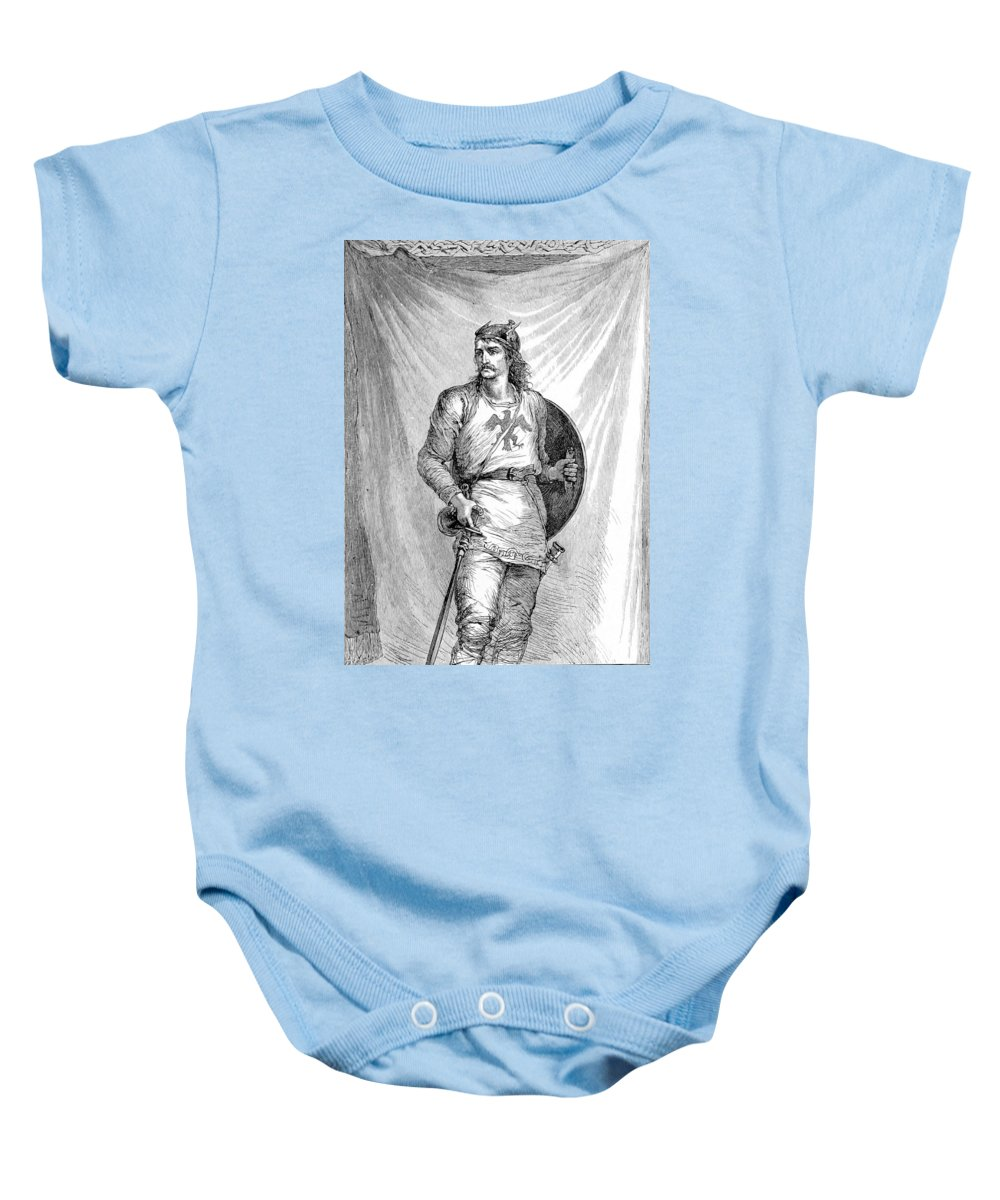 History Baby Onesie featuring the photograph Viking Warrior by British Library