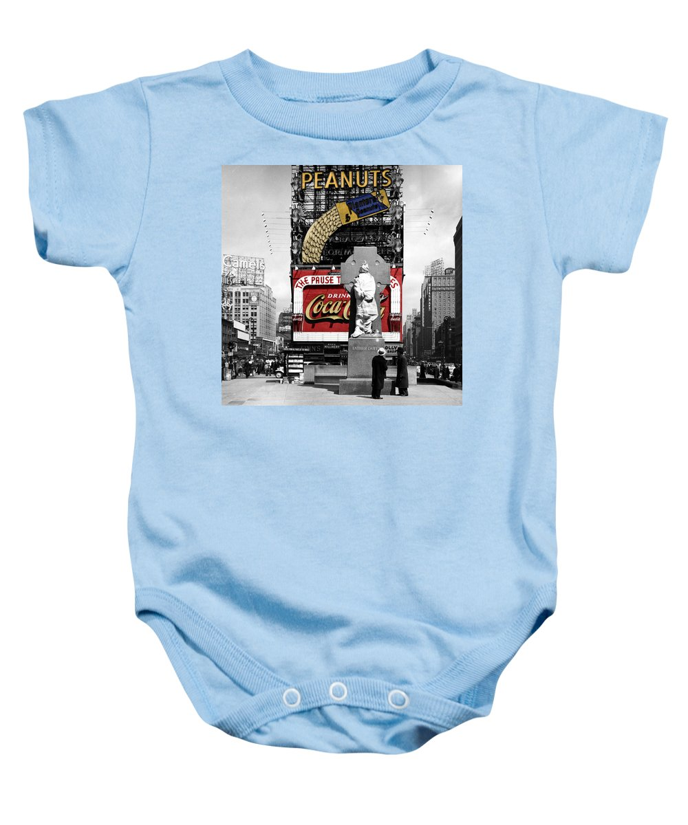 Nyc Baby Onesie featuring the photograph Vintage Times Square 1 by Andrew Fare