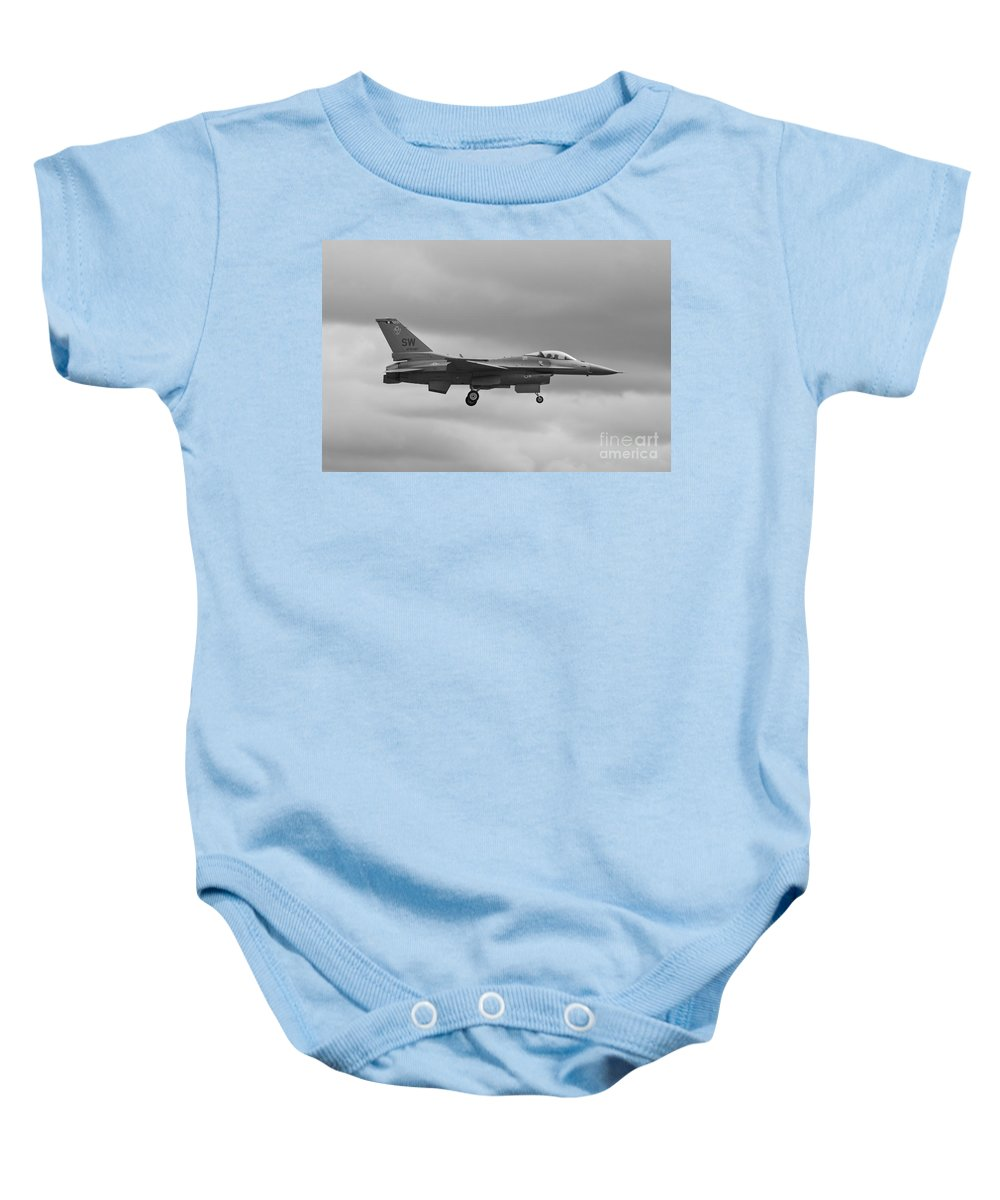 General Dynamics Baby Onesie featuring the photograph Viper Landing by Tim Mulina