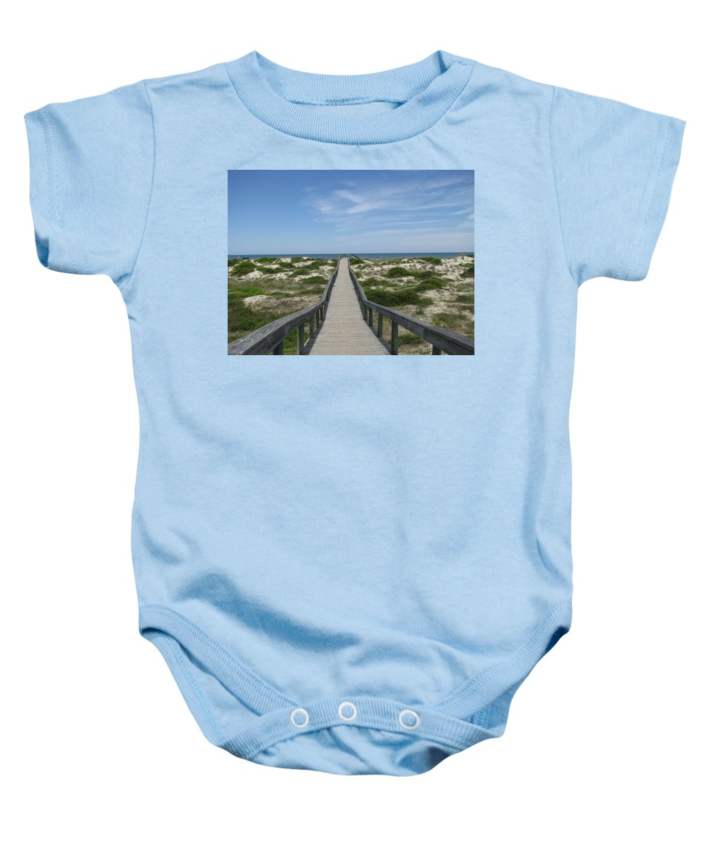 Landscape Baby Onesie featuring the photograph Waiting For Happy Feet by Ellen Meakin