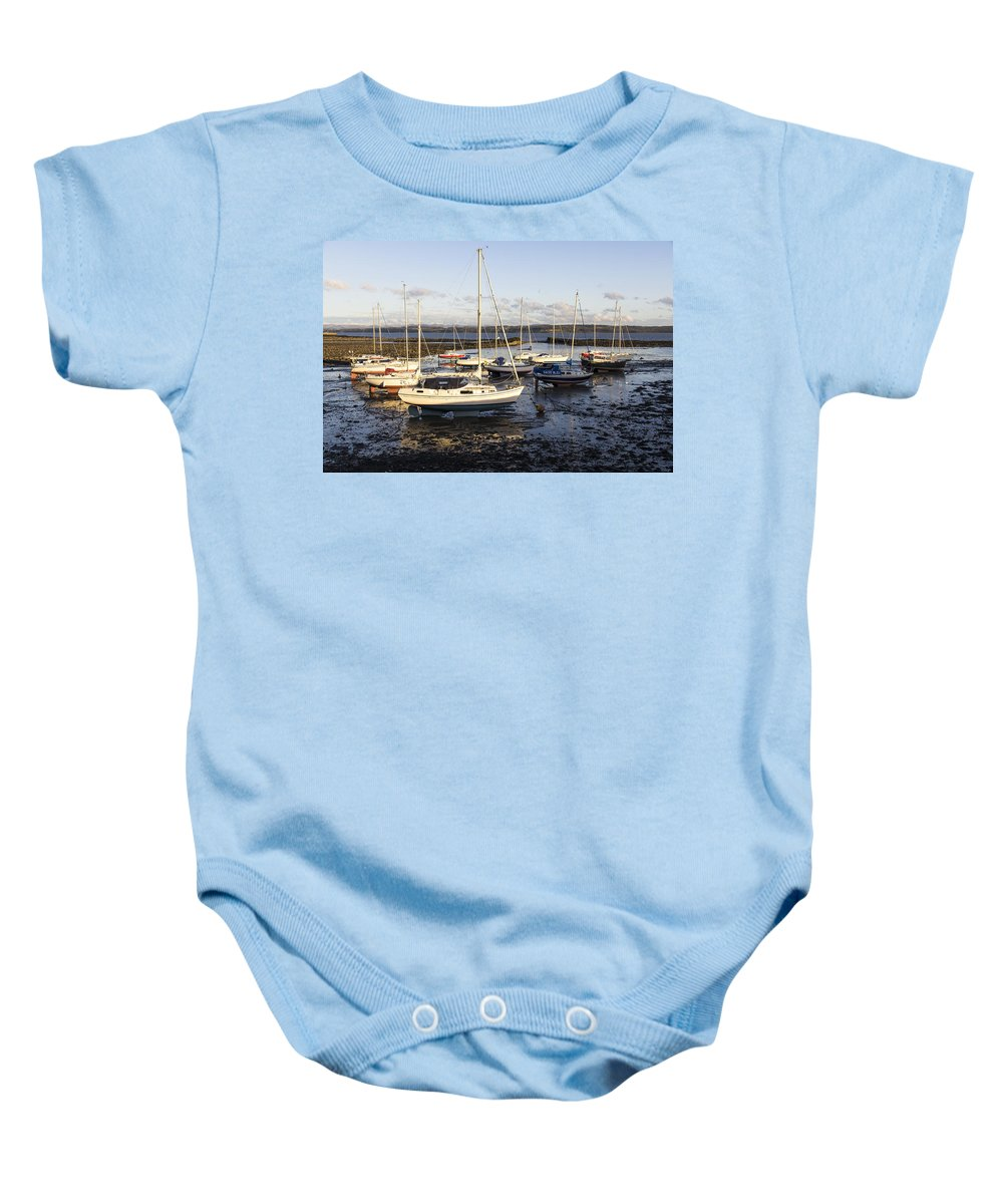 Boats Baby Onesie featuring the photograph Waiting For The Tide To Turn by Ross G Strachan