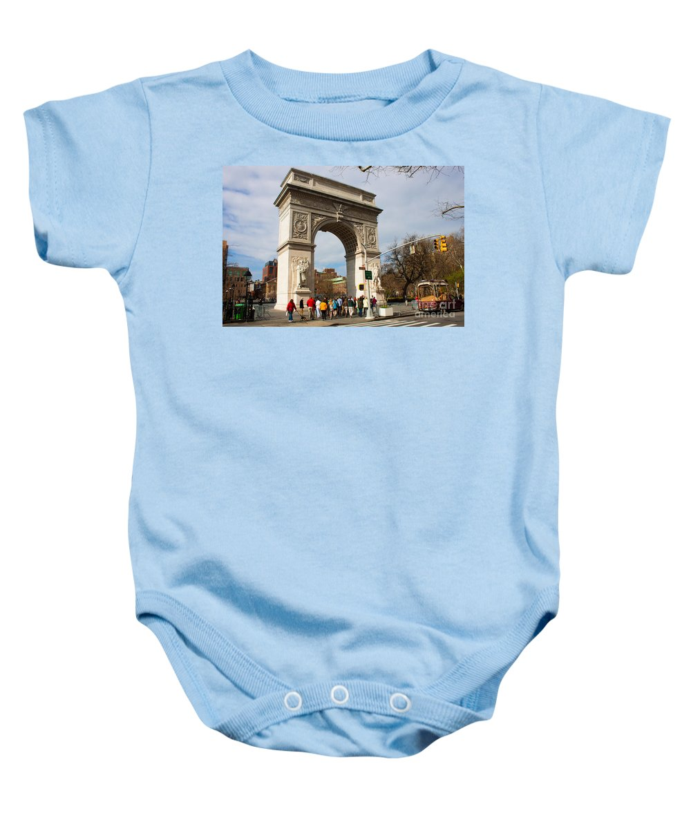 Arch Baby Onesie featuring the photograph Washington Square Arch New York City by Thomas Marchessault