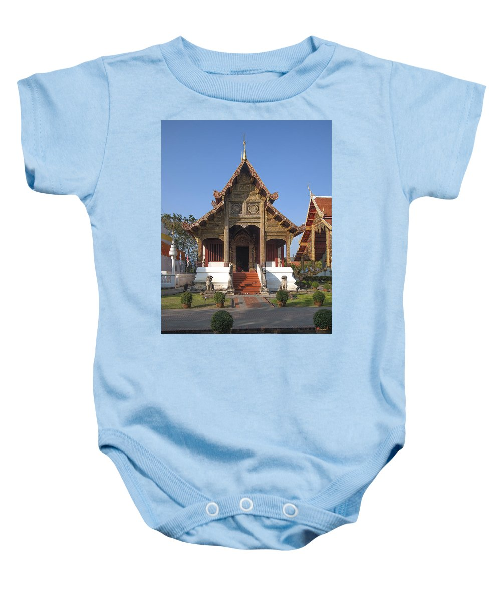 Scenic Baby Onesie featuring the photograph Wat Phra Singh Phra Ubosot Dthcm0246 by Gerry Gantt
