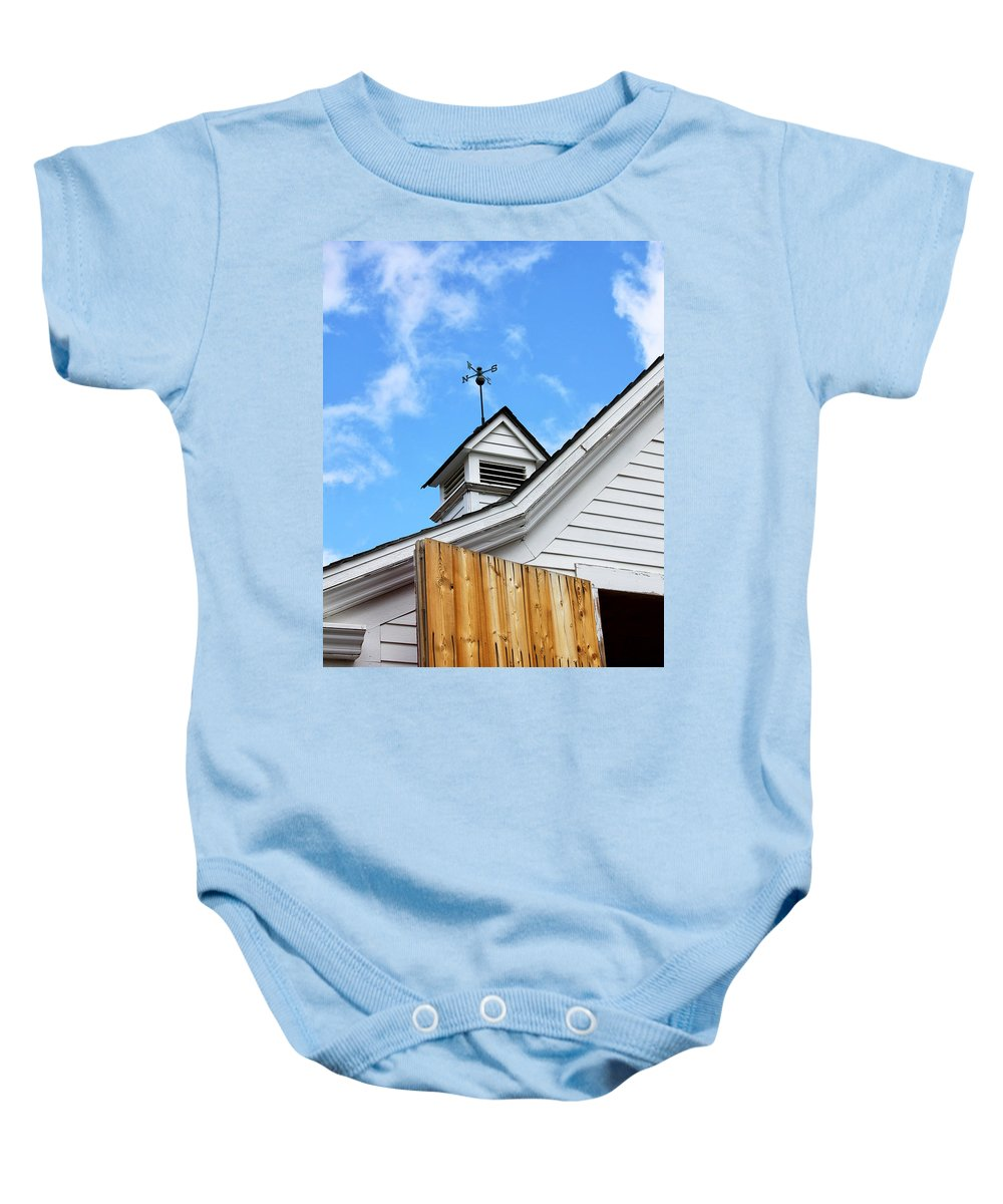 Apple Baby Onesie featuring the photograph Weather Vane Apple Valley by William Dey