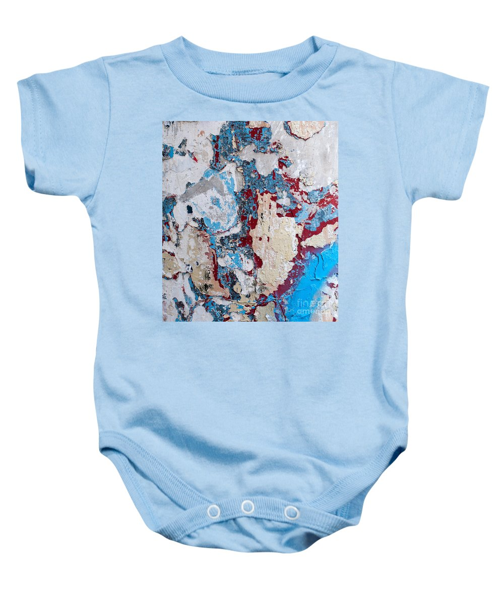 Weathered Baby Onesie featuring the photograph Weathered Wall 02 by Rick Piper Photography