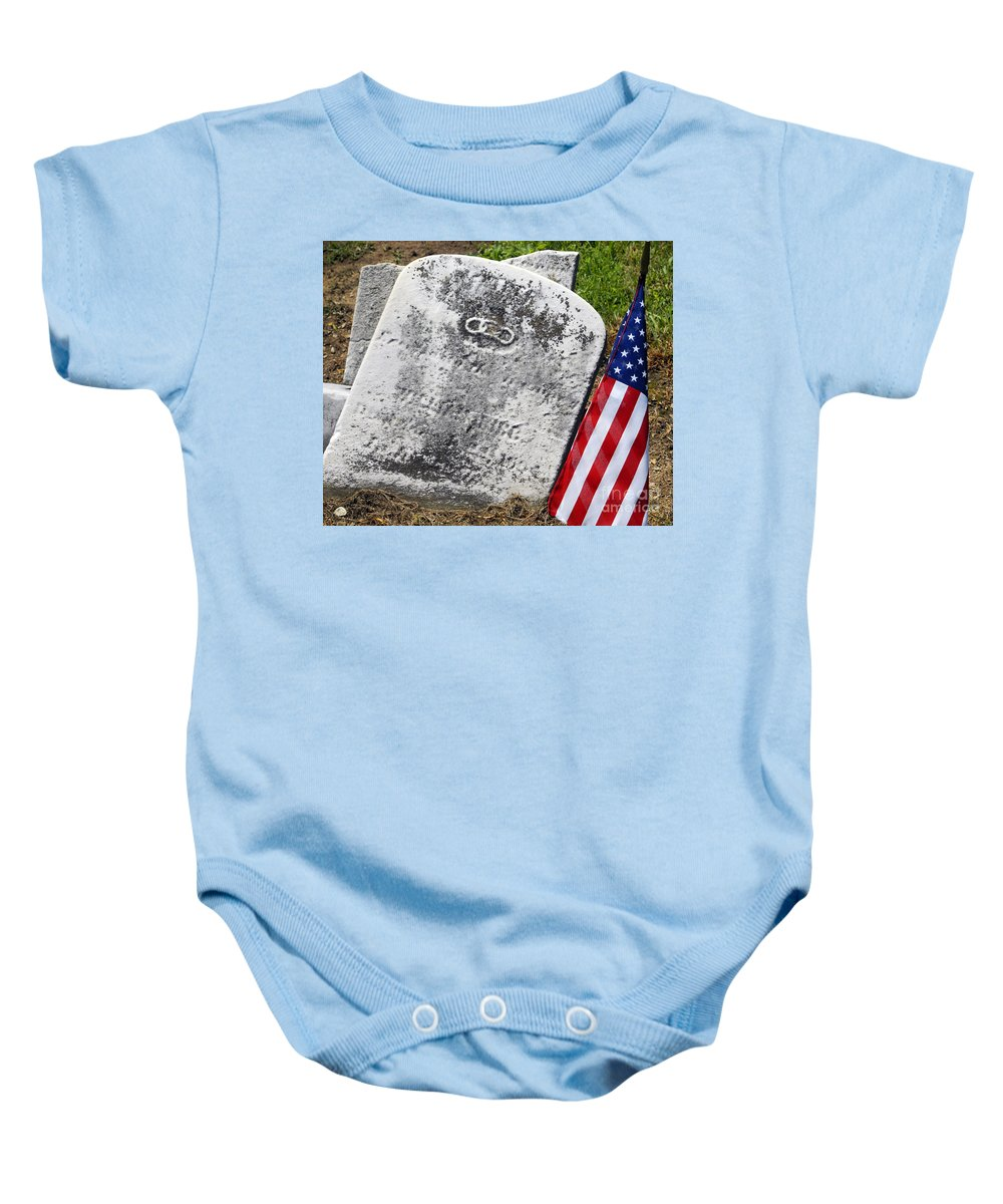 Cemetery Baby Onesie featuring the photograph When Cowards Attack Our Heroes by Paul W Faust - Impressions of Light