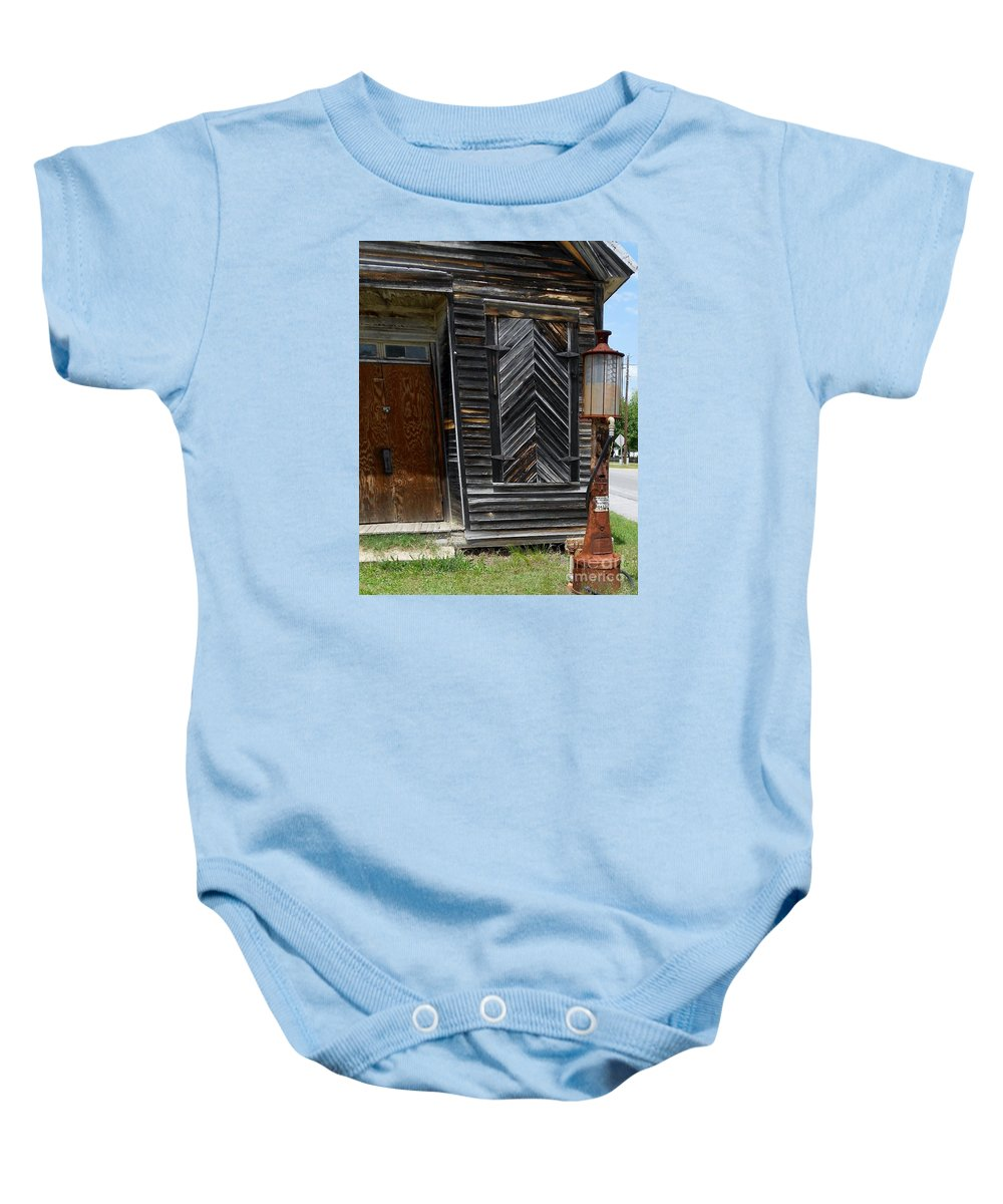 Gas Baby Onesie featuring the photograph When Gas Was 18 Cents A Gallon by Eloise Schneider Mote