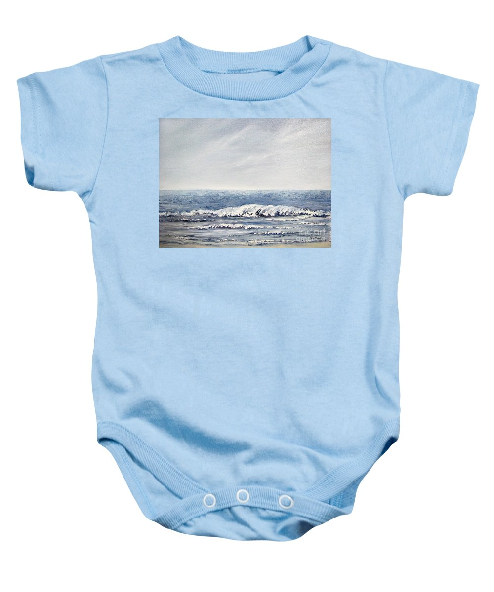 Seascape Baby Onesie featuring the painting Where I Want To Be by Todd A Blanchard