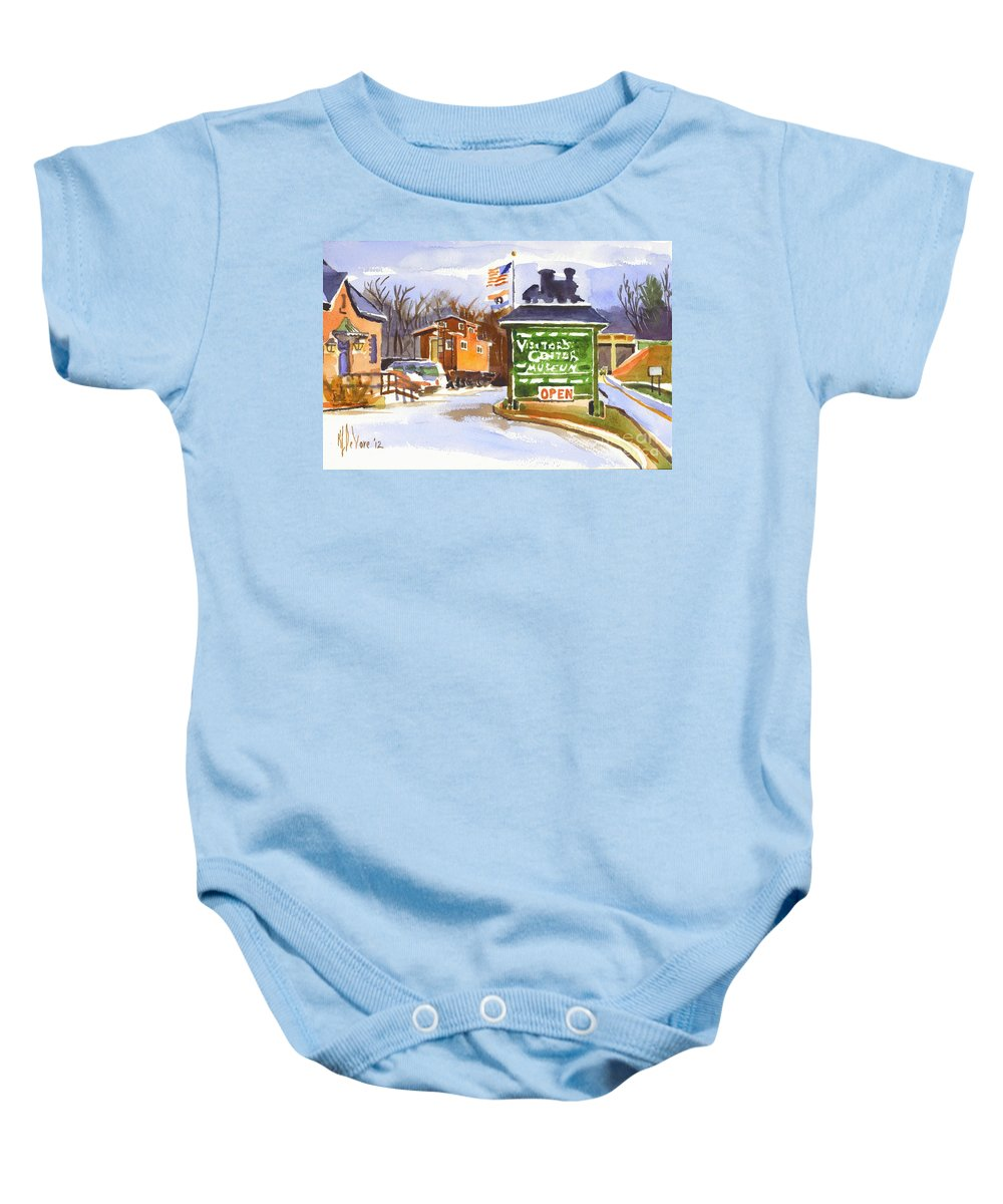Red Caboose Baby Onesies