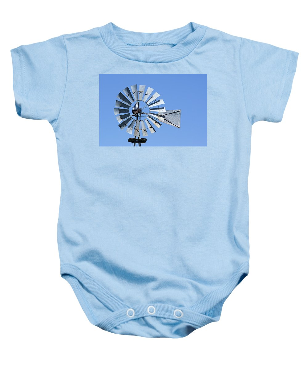 Windmill Baby Onesie featuring the photograph Windmill by Donald Erickson