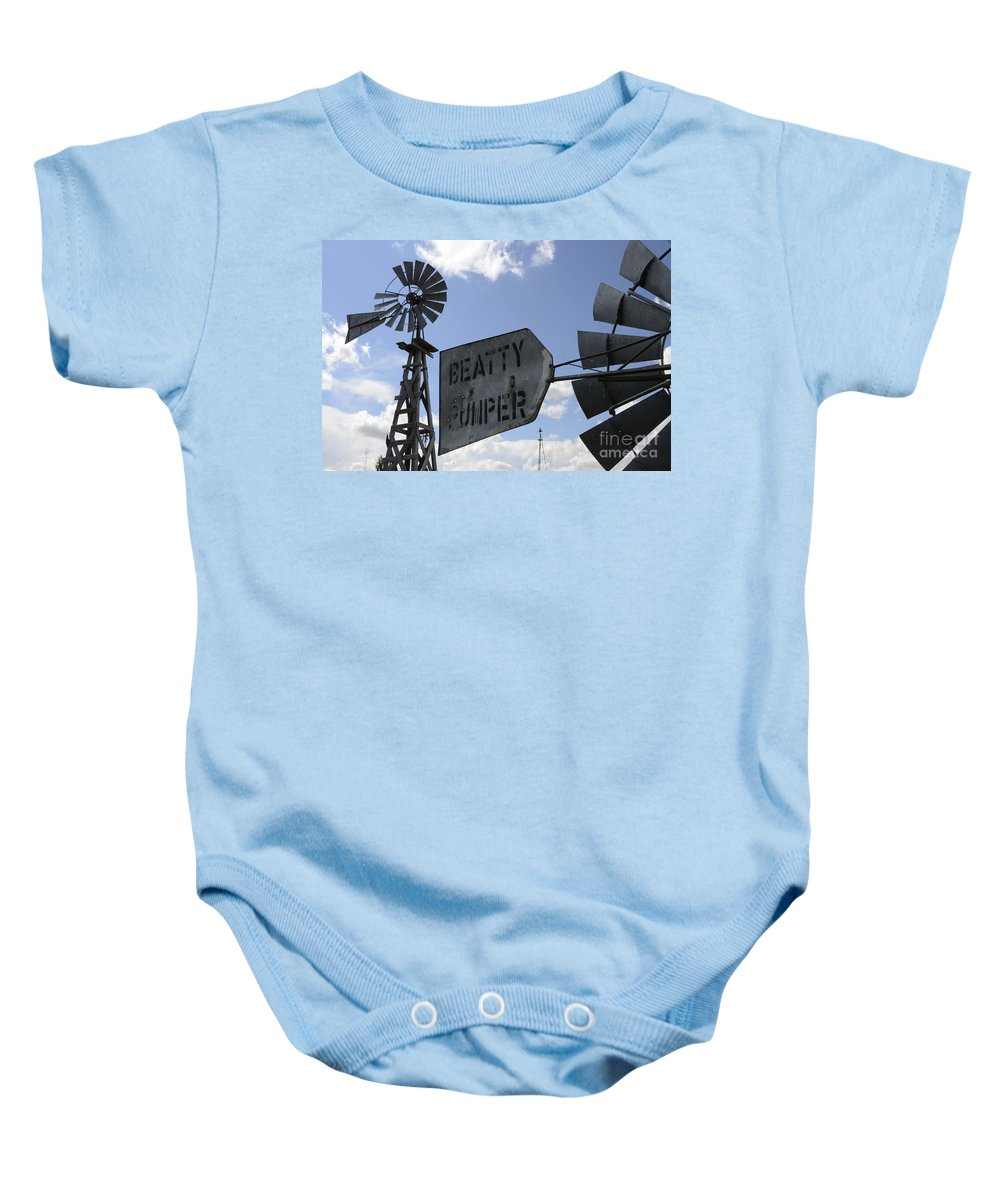 Windmill Baby Onesie featuring the photograph Windmills 1 by Bob Christopher