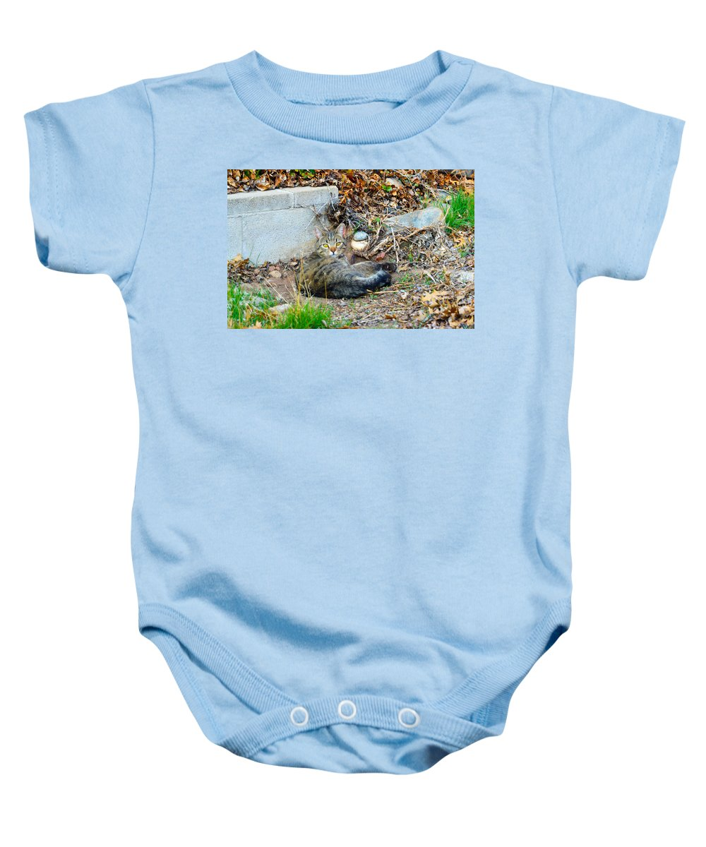 Eyes Baby Onesie featuring the photograph Winston 9 by Brent Dolliver