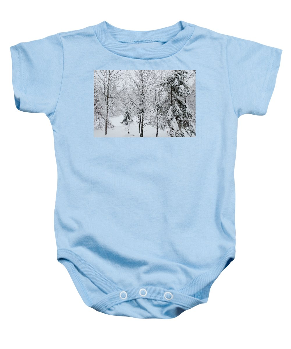 Frost Baby Onesie featuring the photograph Winter Scene by Cheryl Baxter