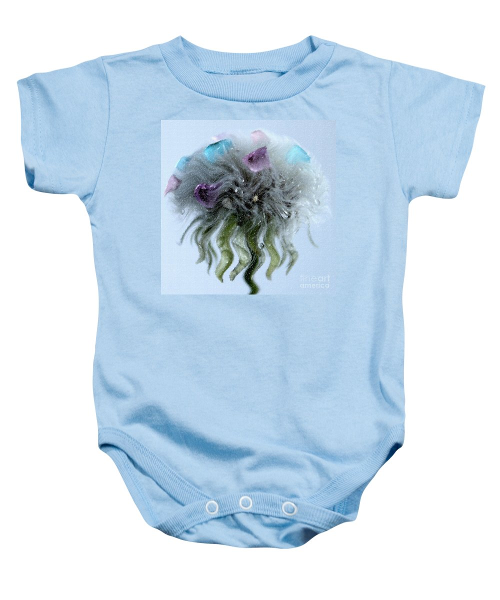 Dandelion Baby Onesie featuring the photograph Wish Beyond by Krissy Katsimbras