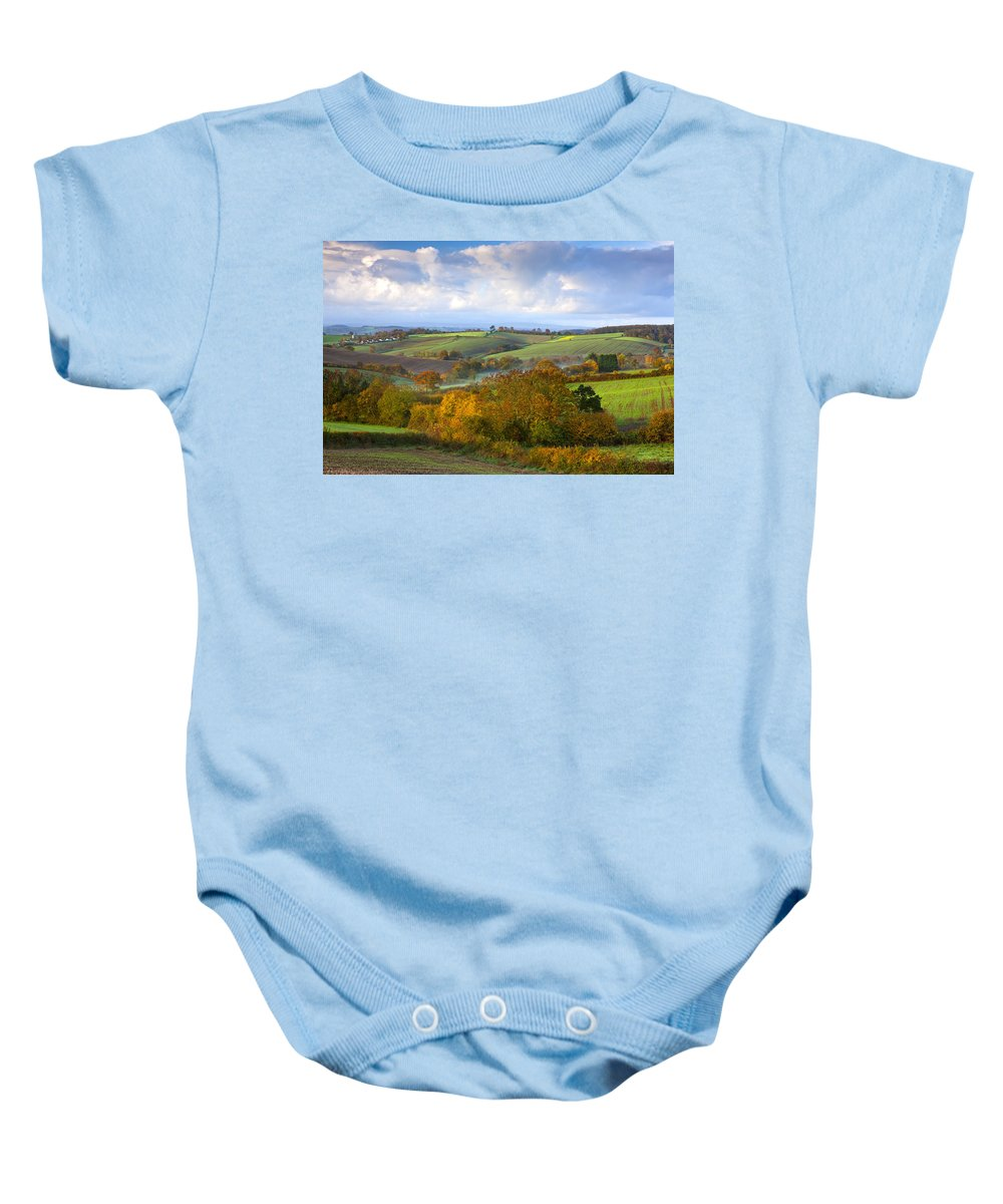 Agriculture Baby Onesie featuring the photograph Autumn by Sebastian Wasek