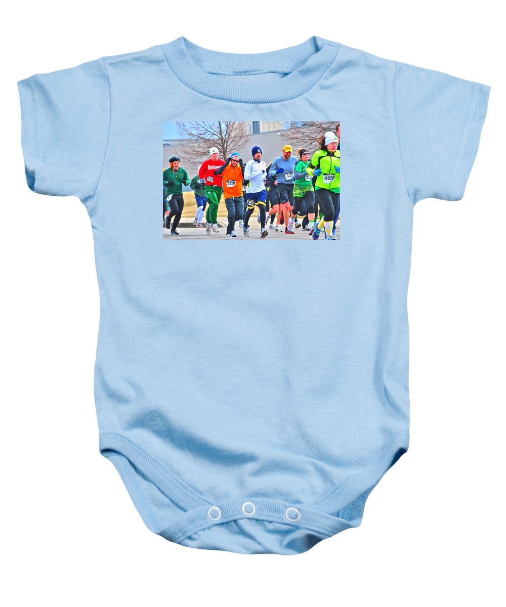 Baby Onesie featuring the photograph 022 Shamrock Run Series by Michael Frank Jr