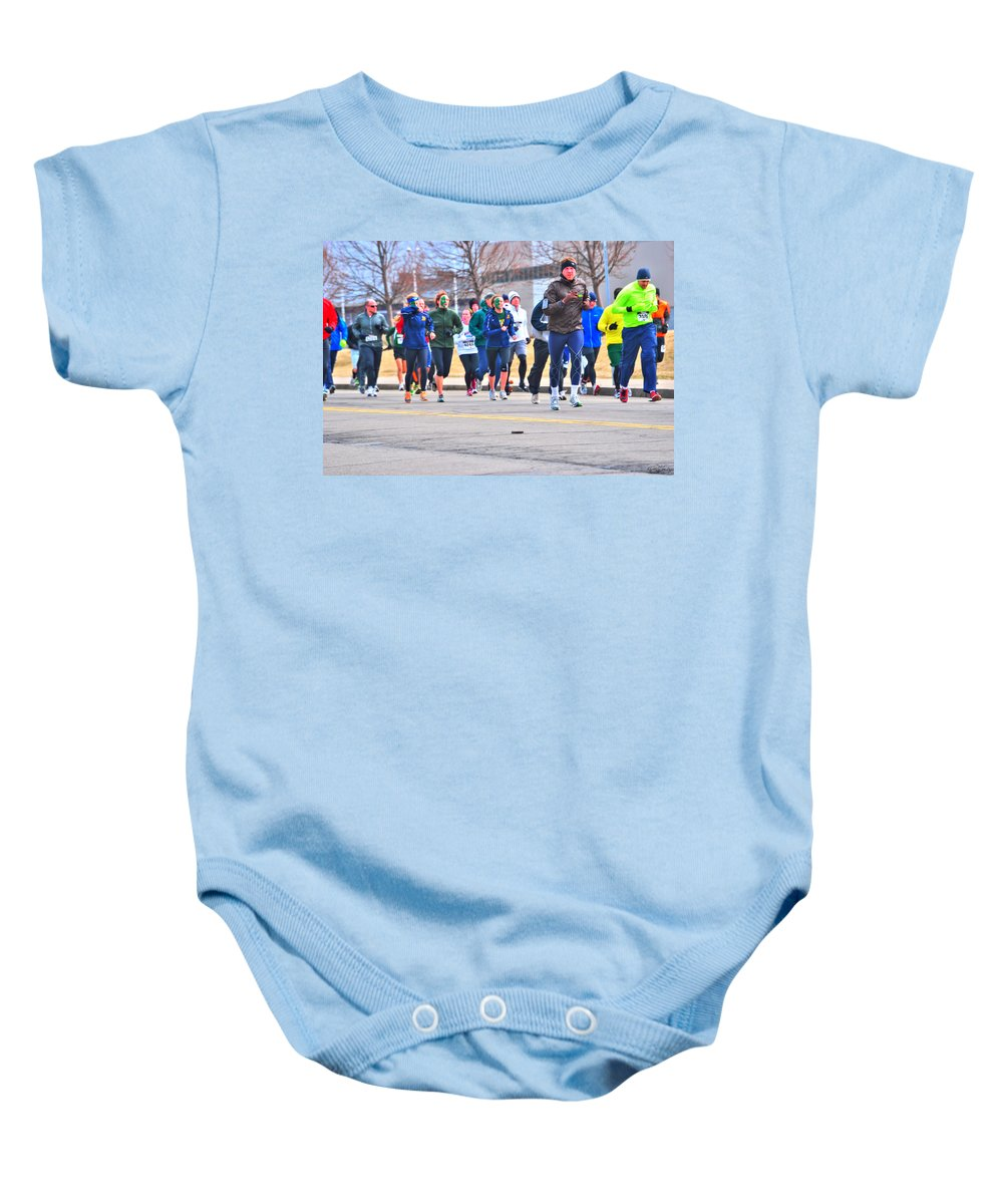 Baby Onesie featuring the photograph 023 Shamrock Run Series by Michael Frank Jr