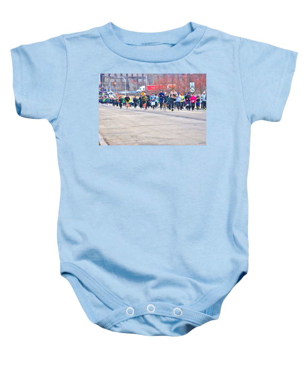 Baby Onesie featuring the photograph 027 Shamrock Run Series by Michael Frank Jr