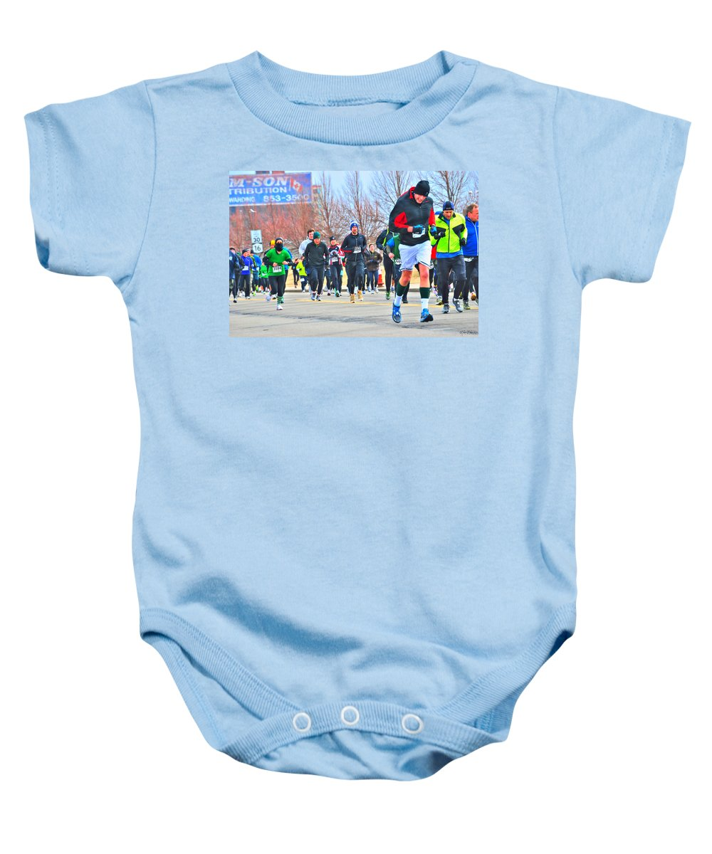 Baby Onesie featuring the photograph 030 Shamrock Run Series by Michael Frank Jr